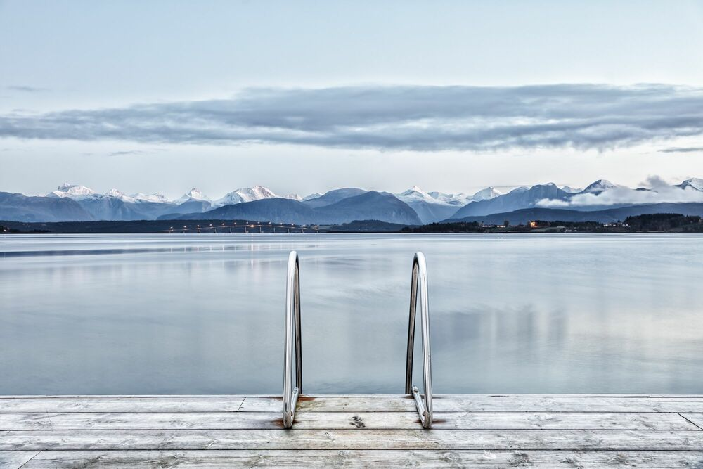 Photograph FJORD SWIM OR SKATE -  LDKPHOTO - Picture painting