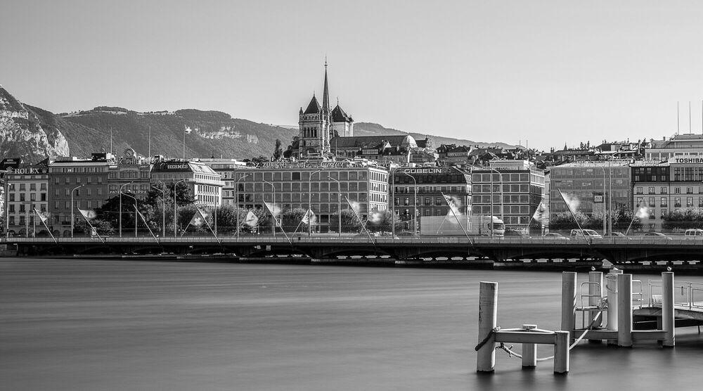Fotografia GE PONT DU MONT BLANC II -  LDKPHOTO - Pittura di immagini
