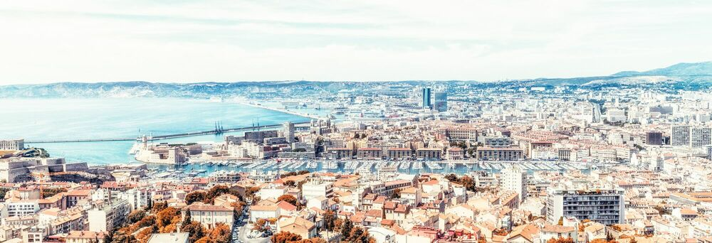 Photograph MARSEILLE PANORAMA -  LDKPHOTO - Picture painting