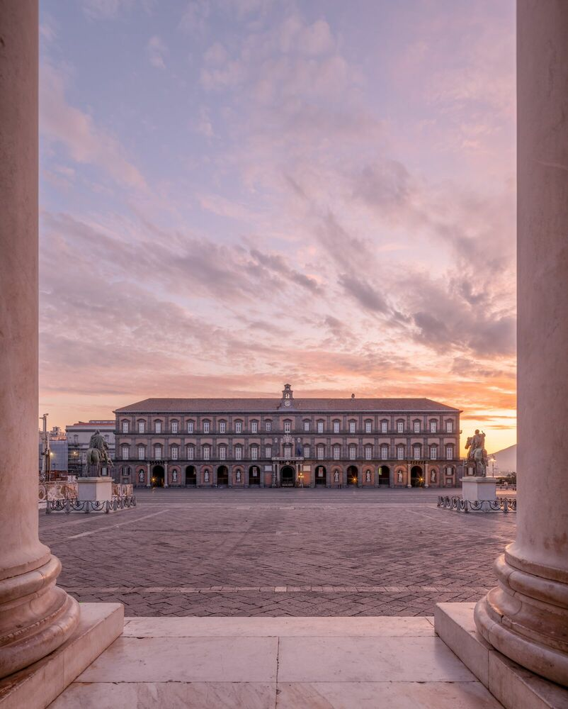 Photograph NAPOLI-PALAZZO REALE -  LDKPHOTO - Picture painting