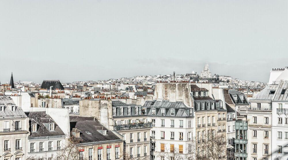 Photographie PARIS - LE SACRE COEUR VEILLE -  LDKPHOTO - Tableau photo