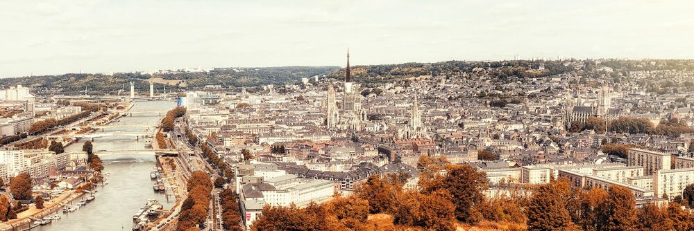 Photograph ROUEN PANORAMA -  LDKPHOTO - Picture painting