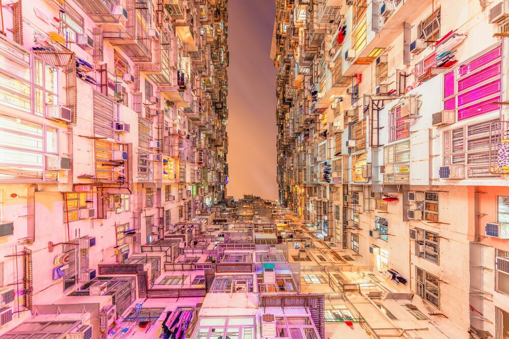Fotografie YIK FAT BUILDING II -  LDKPHOTO - Bildermalerei