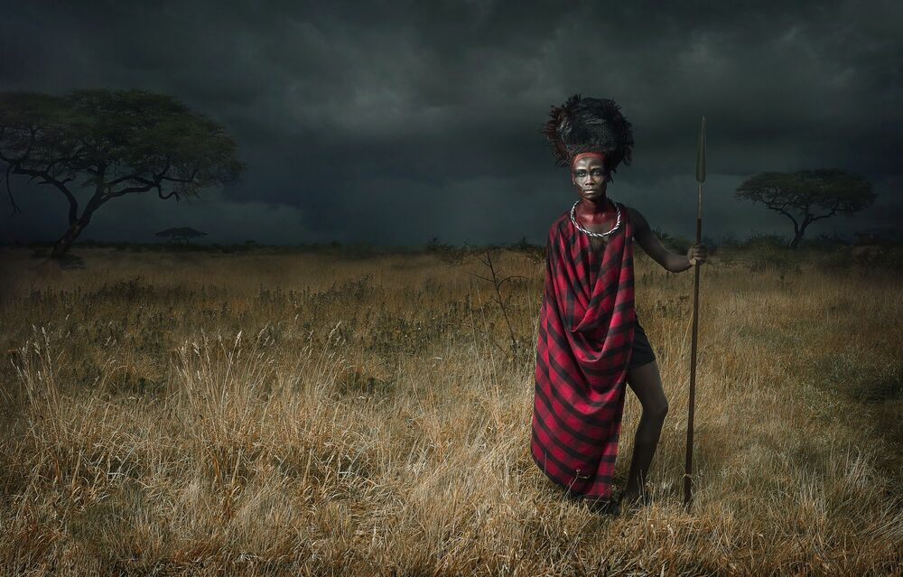 Photographie Maasai - Before the Storm - LEE HOWELL - Tableau photo