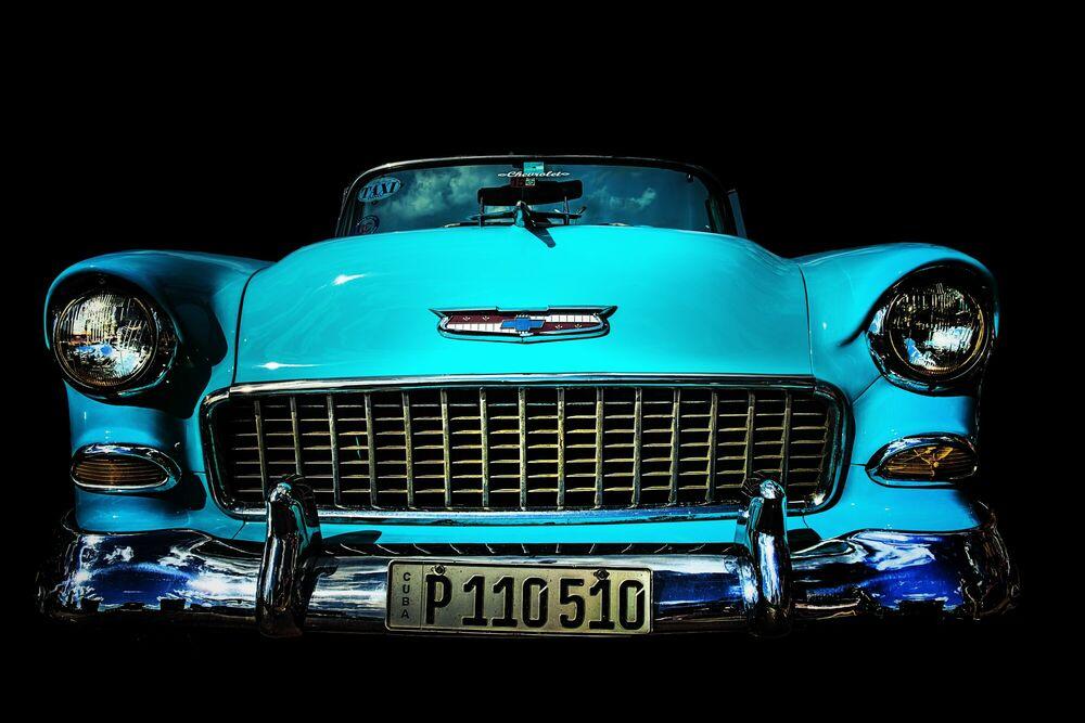 Fotografie Cuba's car - Chevrolet Bel Air 1955 - LORENZO MITTIGA - Bildermalerei