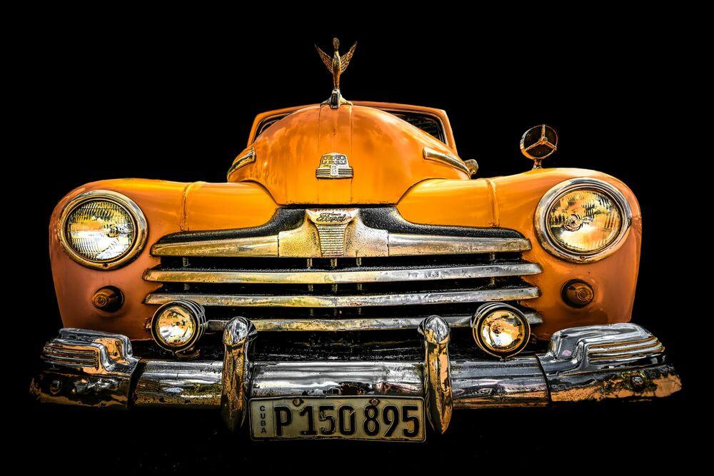 Kunstfoto Cuba's car - Ford Deluxe 1947 - LORENZO MITTIGA - Foto schilderij