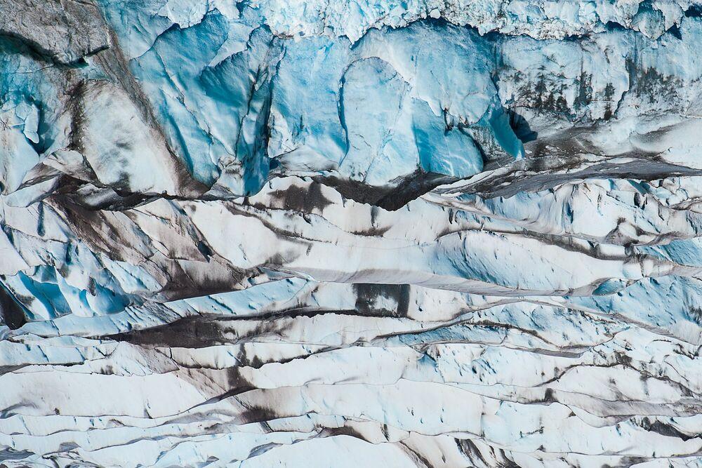 Fotografia AZULICE GLACIER VIEDMA PATAGONIA - LUC HARDY - Pittura di immagini