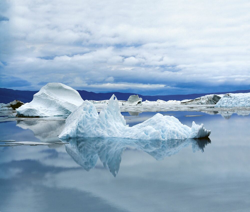 Photographie Procession d'icebergs - LUC HARDY - Tableau photo