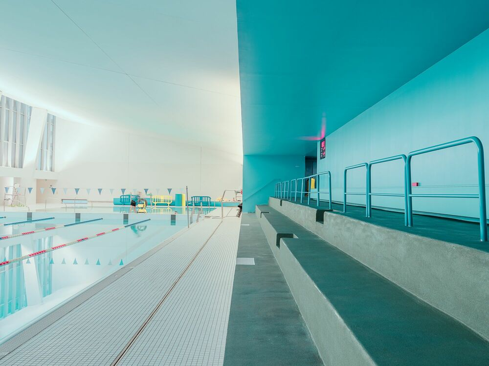 Photographie BAGNEUX SWIMMING-POOL - LUDWIG FAVRE - Tableau photo