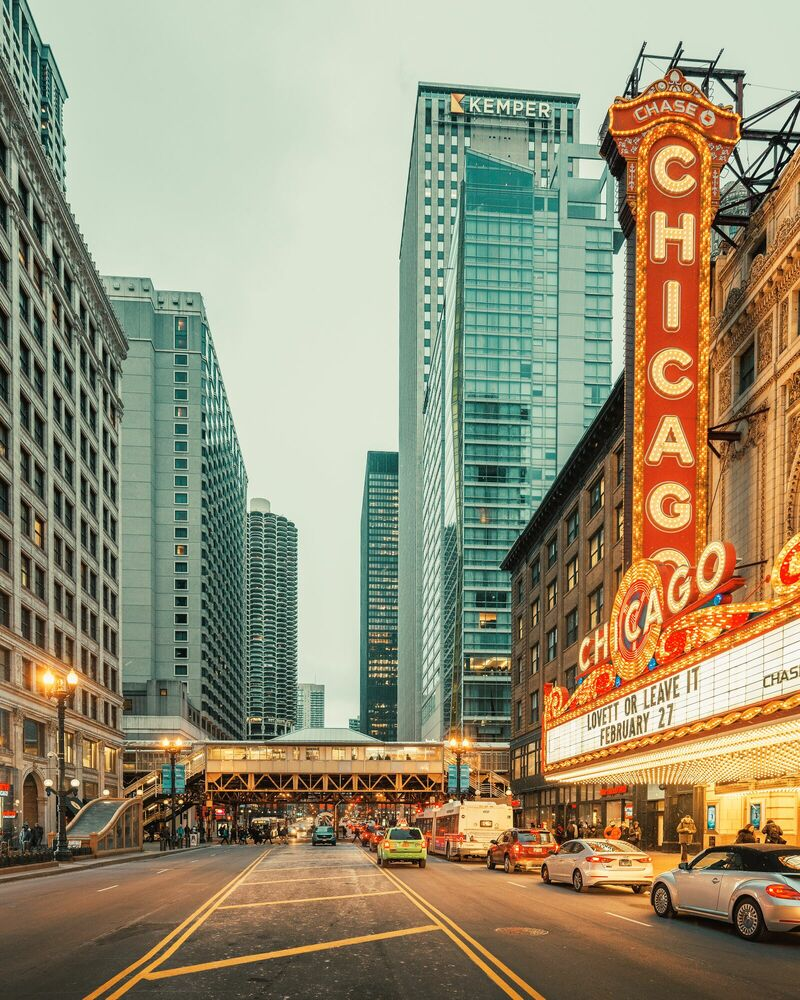 Photographie CHICAGO STREET - LUDWIG FAVRE - Tableau photo