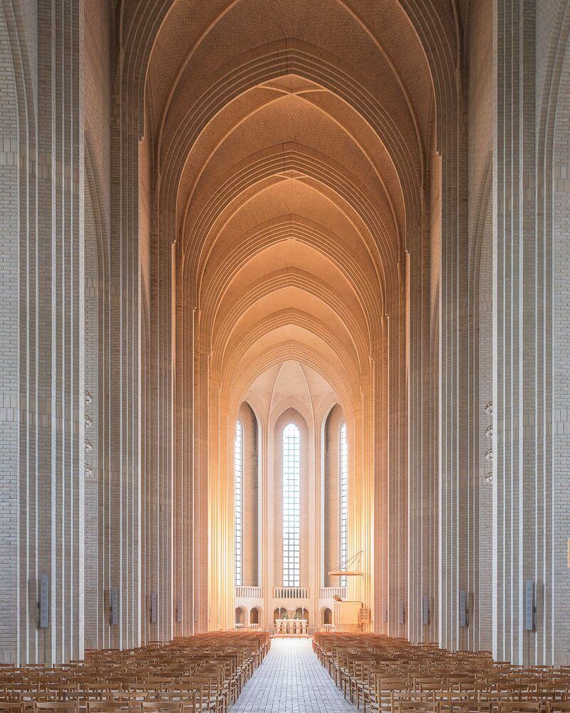 Photograph COPENHAGEN CHURCH - LUDWIG FAVRE - Picture painting