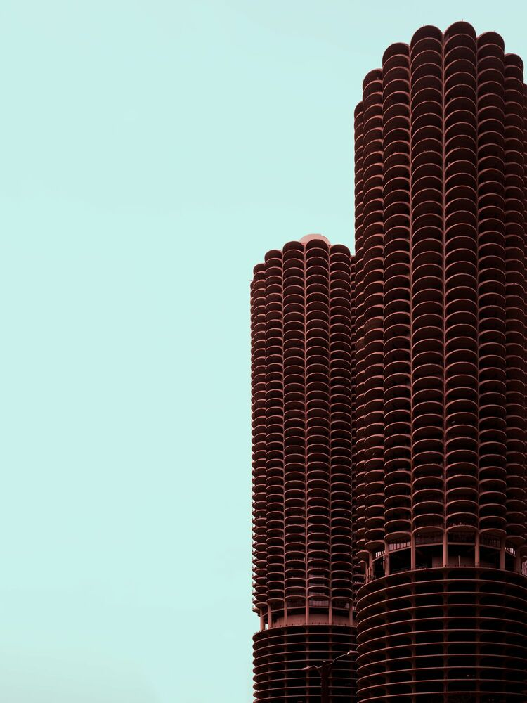 Photograph FLOWER TOWER CHICAGO - LUDWIG FAVRE - Picture painting