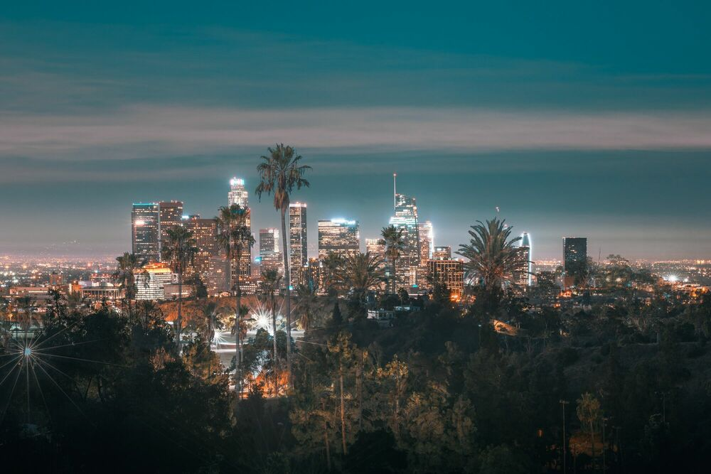 Photograph LOS ANGELES CITY VIEW - LUDWIG FAVRE - Picture painting