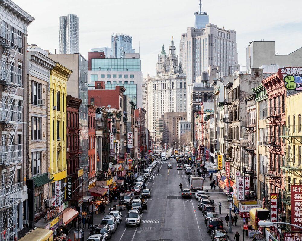 Fotografie MANHATTAN BRIDGE VIEW - LUDWIG FAVRE - Bildermalerei