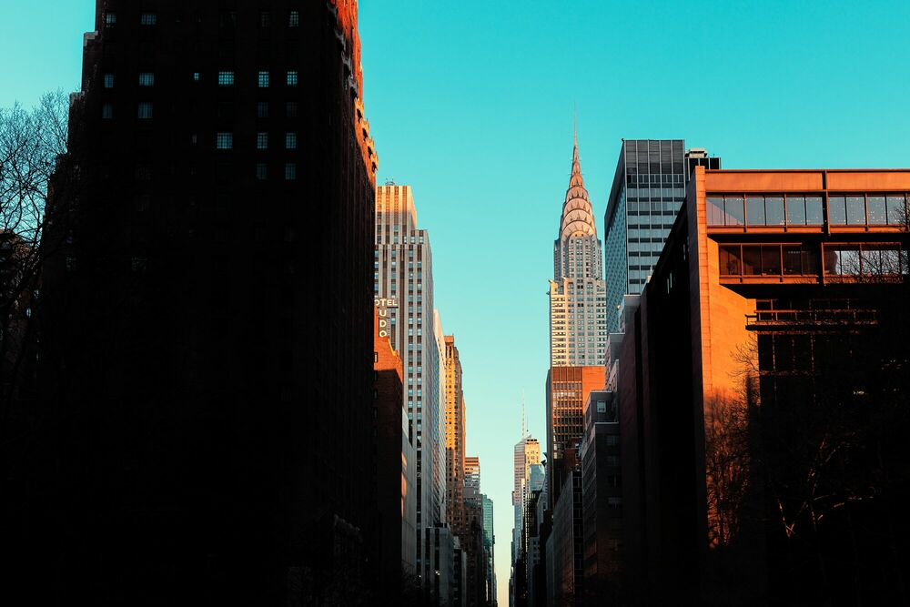 Fotografie NEW YORK SUN RISE - LUDWIG FAVRE - Bildermalerei