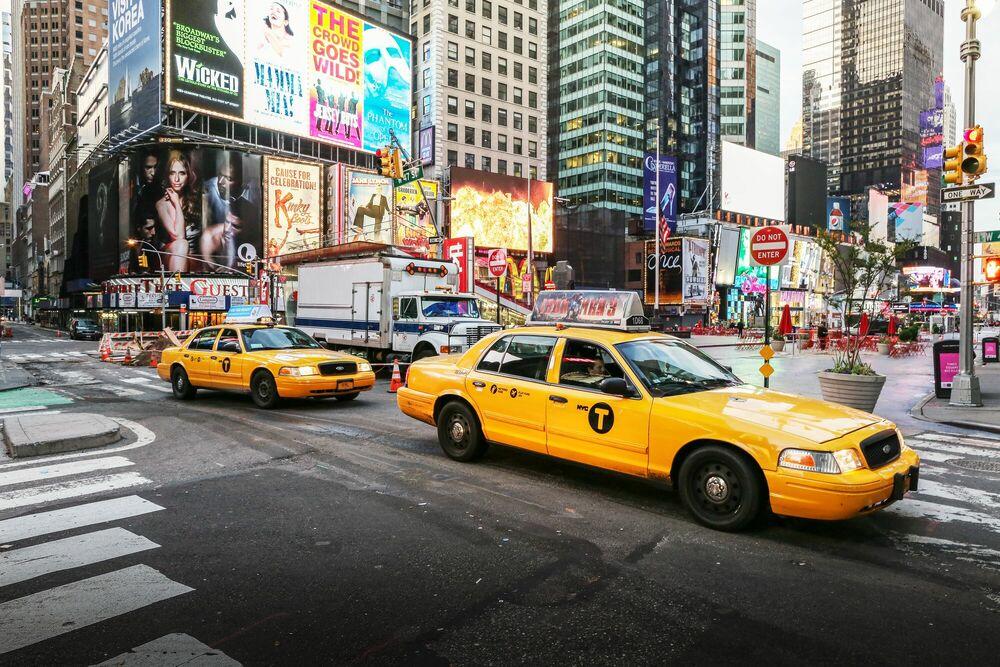 Fotografia New york yellow cab - LUDWIG FAVRE - Pittura di immagini