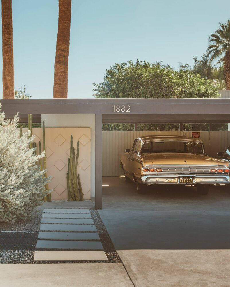 Photographie PALM SPRINGS 60S - LUDWIG FAVRE - Tableau photo
