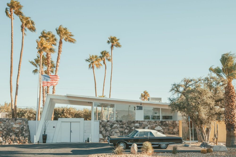 Photographie PALM SPRINGS HOUSE - LUDWIG FAVRE - Tableau photo