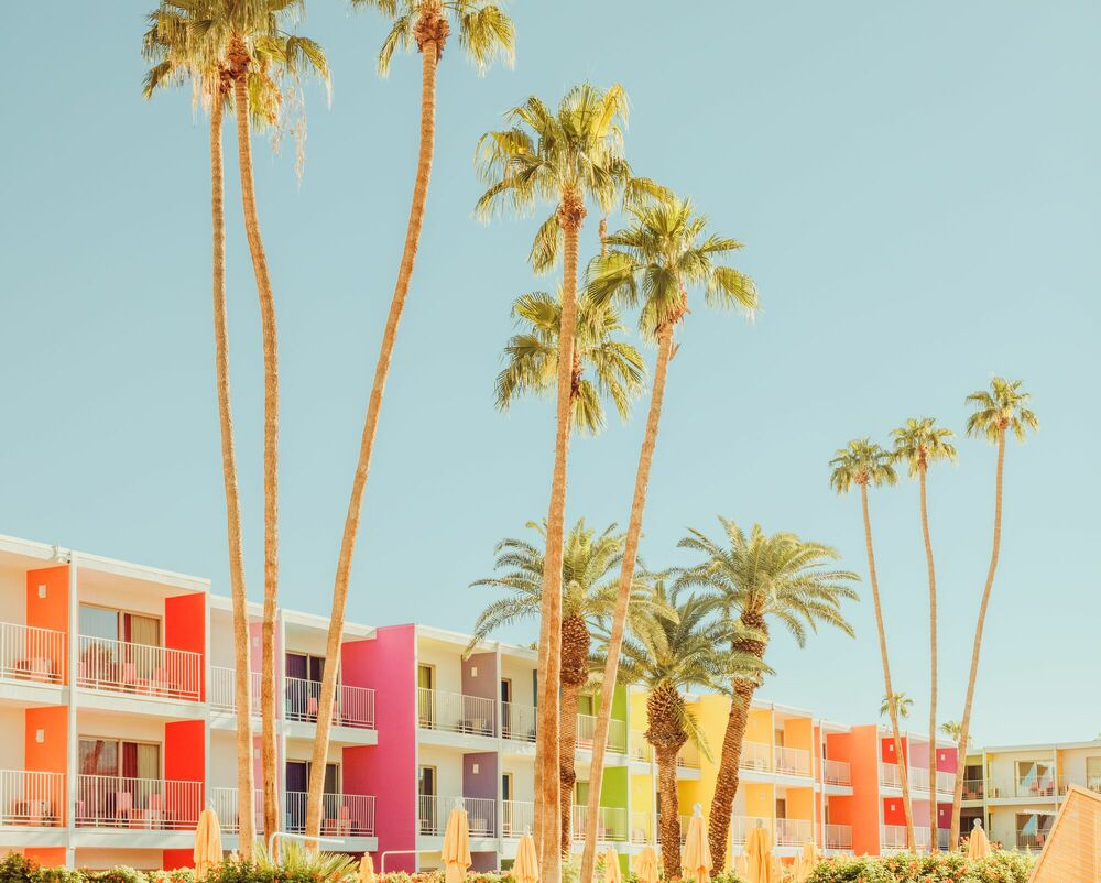 Photographie PALM SPRINGS ICONIC POOL - LUDWIG FAVRE - Tableau photo