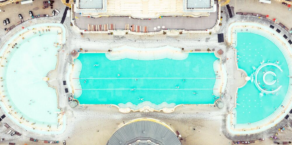 Photograph POOL BUDAPEST II - LUDWIG FAVRE - Picture painting