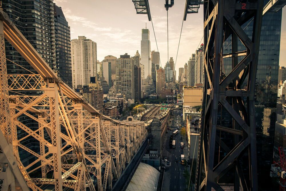 Photograph Roosevelt Island Bridge - LUDWIG FAVRE - Picture painting