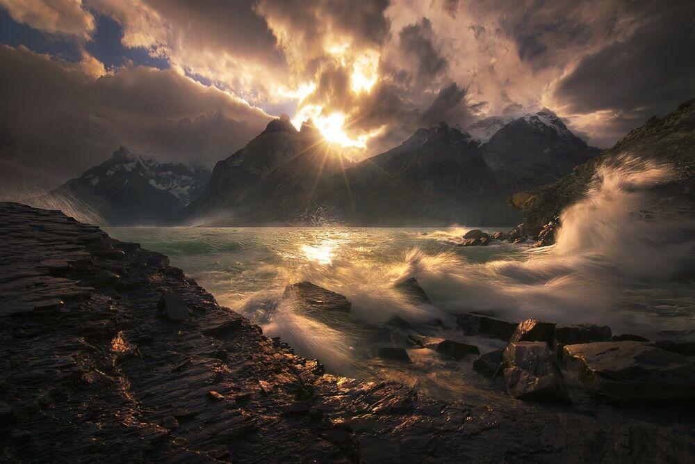 Fotografie Boom Torres del Paine Chile - MARC ADAMUS - Bildermalerei