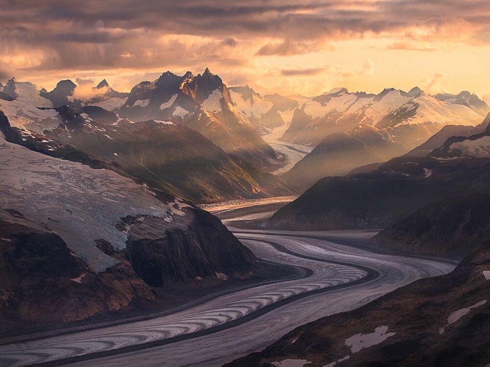 Photographie Ice River Mountains Boundary Range Alaska - MARC ADAMUS - Tableau photo