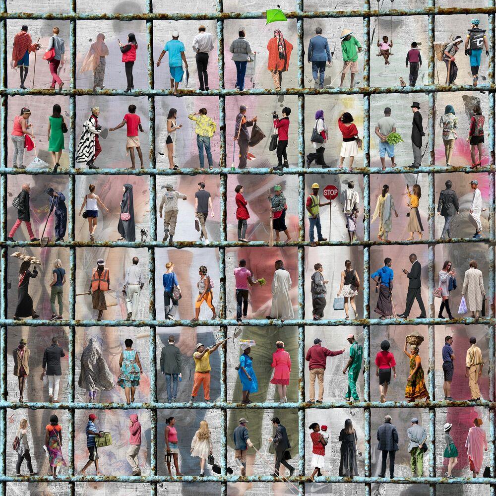 Photographie HOMMES FEMMES TOUS DIFFERENTS - MARIE LAURE VAREILLES - Tableau photo