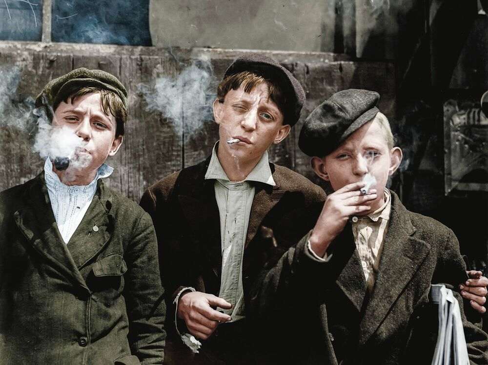Photographie 1910 THEY WERE ALL SMOKING MISSOURI - MARIE-LOU CHATEL - Tableau photo