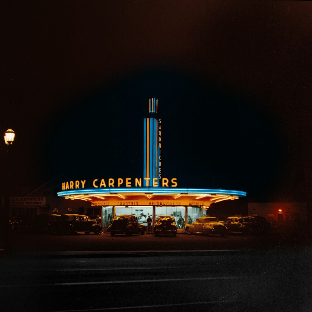 Photographie 1942 A NEON SIGN CALIFORNIA - MARIE-LOU CHATEL - Tableau photo
