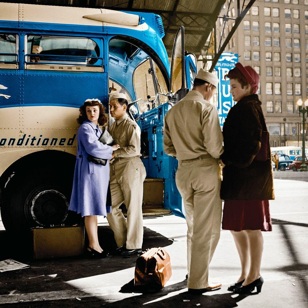 Fotografie 1943 SAYING GOODBYE - MARIE-LOU CHATEL - Bildermalerei