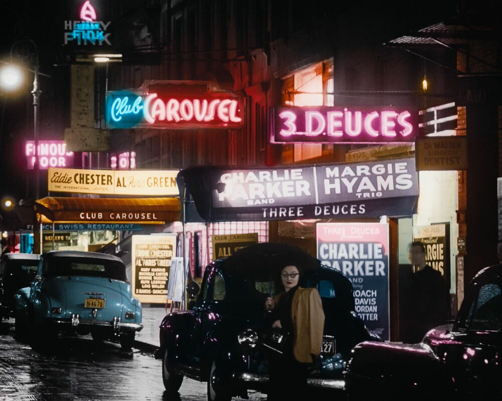 Photographie 1948 52ND STREET NYC - MARIE-LOU CHATEL - Tableau photo