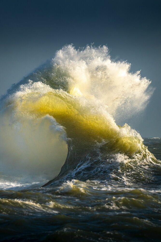 Photographie LE CHANT DORE DE L OCEAN - MATHIEU RIVRIN - Tableau photo
