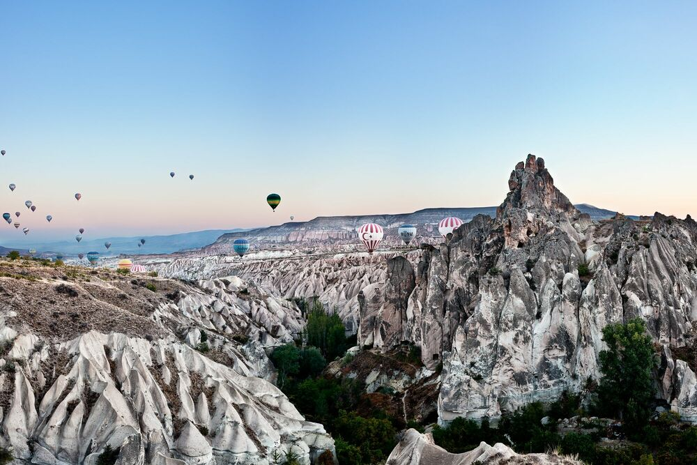 Photographie Balloons Over Cappadocia - MATTHIAS BARTH - Tableau photo