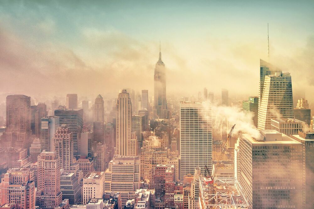 Photograph A Cloudy Morning In New York - MATTHIAS HAKER - Picture painting