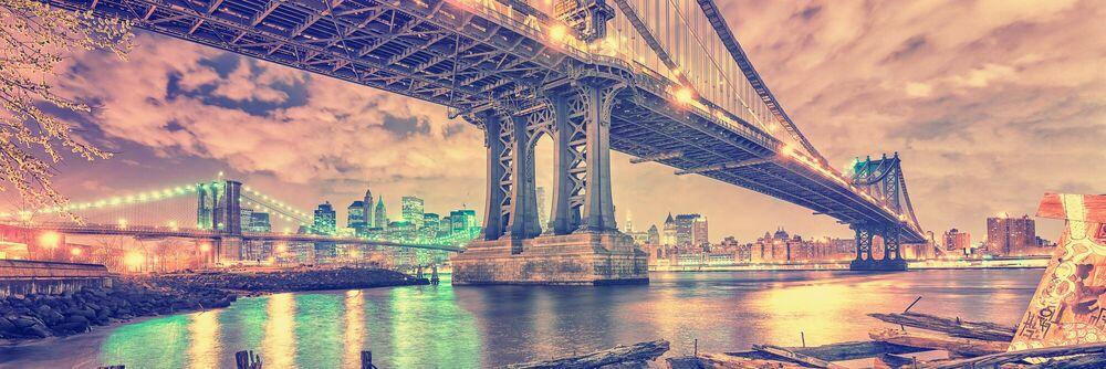 Fotografia MANHATTAN & BROOKLYN BRIDGE - MATTHIAS HAKER - Pittura di immagini