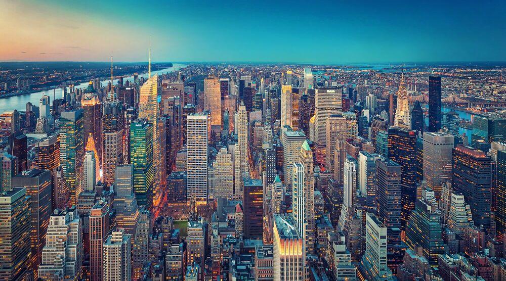 Kunstfoto Manhattan lights - MATTHIAS HAKER - Foto schilderij