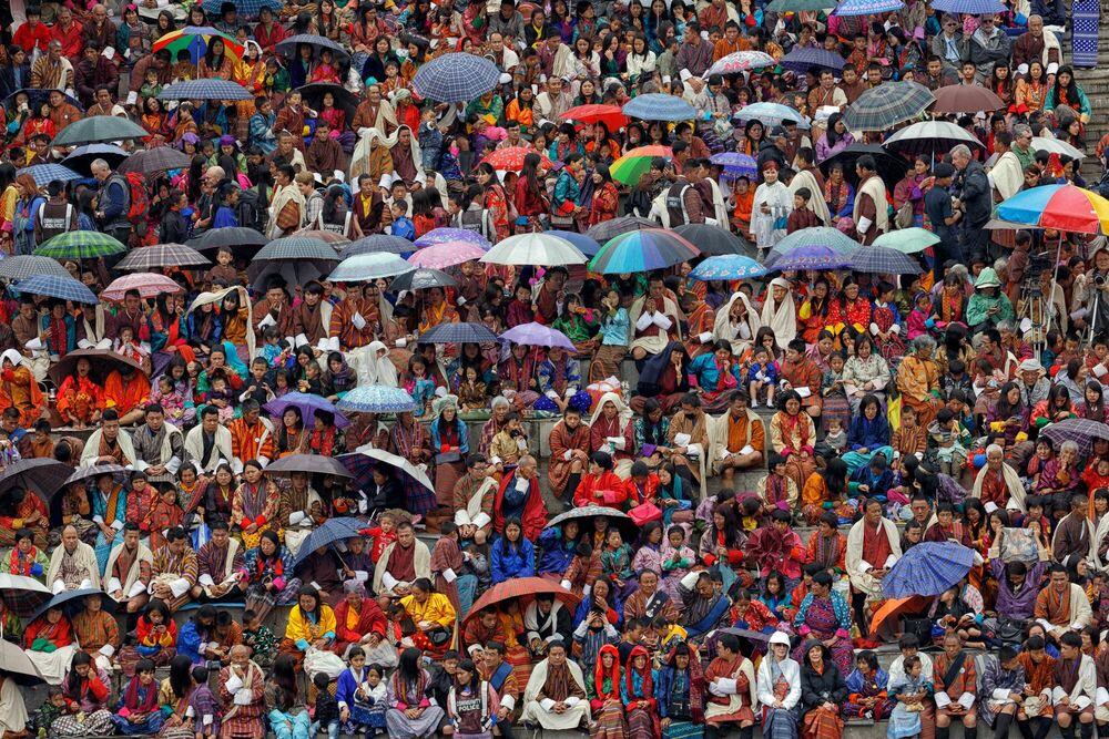 Photographie FESTIVAL AU BHOUTAN - MATTHIEU RICARD - Tableau photo