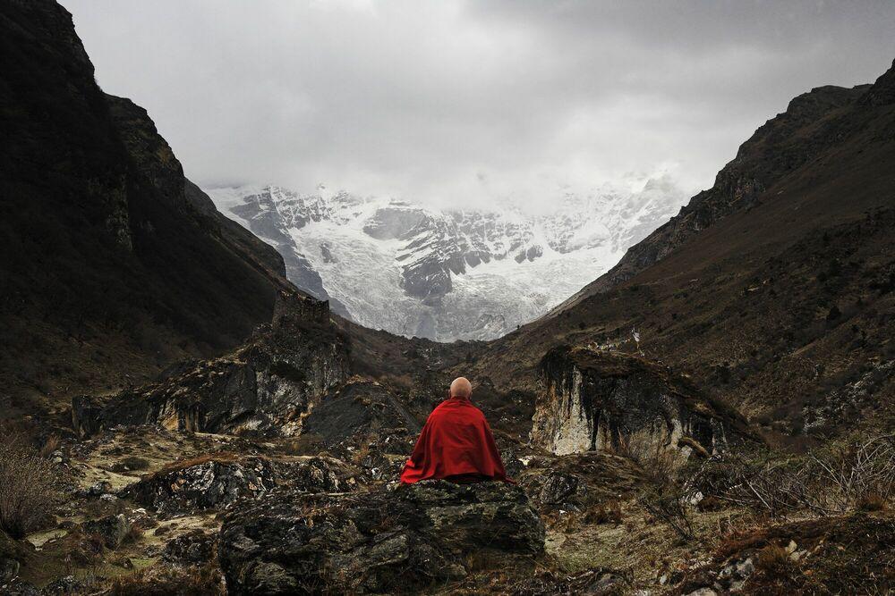Fotografie Le glacier du Jomolhari - MATTHIEU RICARD - Bildermalerei