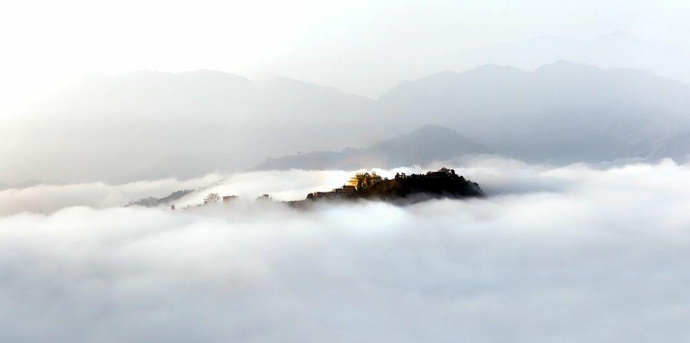 Photographie MONASTERE TIBETAIN NAMO BUDDHA - MATTHIEU RICARD - Tableau photo