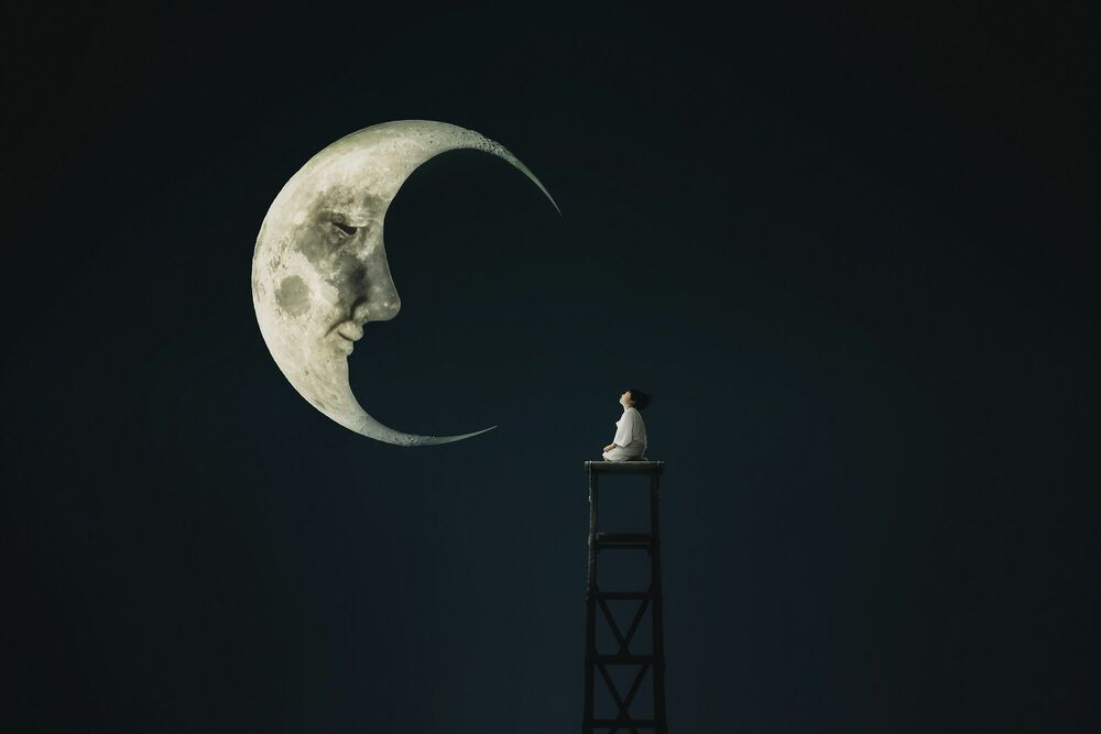Photographie Talk to the moon - MINA MIMBU - Tableau photo