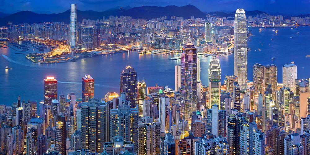 Photographie HONG KONG VICTORIA HARBOUR - NICOLAS JACQUET - Tableau photo