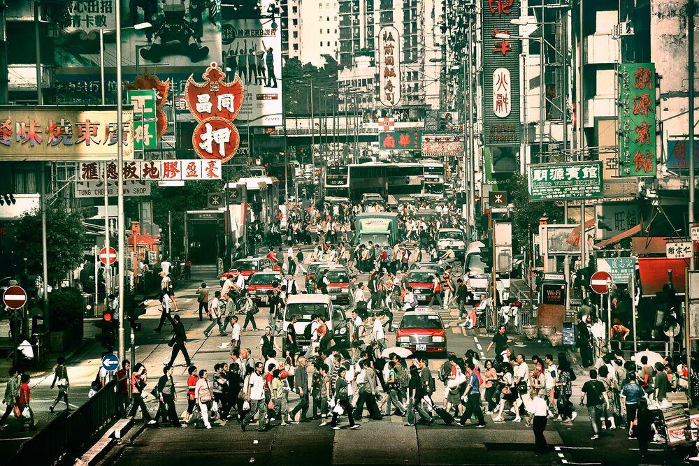 Photograph Street Bustle - NICOLAS JACQUET - Picture painting