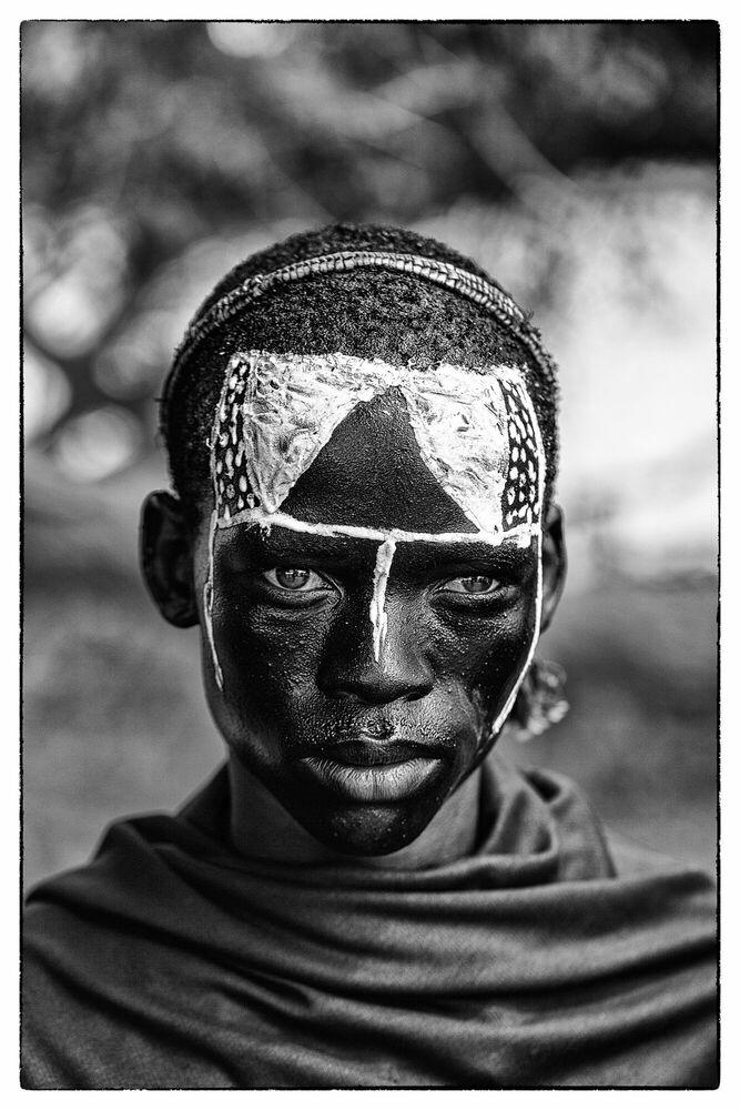 Fotografie LE MASQUE DES LARMES - PHILIPPE GESLIN - Bildermalerei