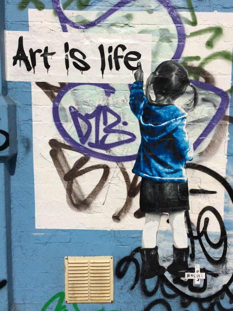Fotografie ART IS LIFE LONDON - POLAR BEAR - Bildermalerei