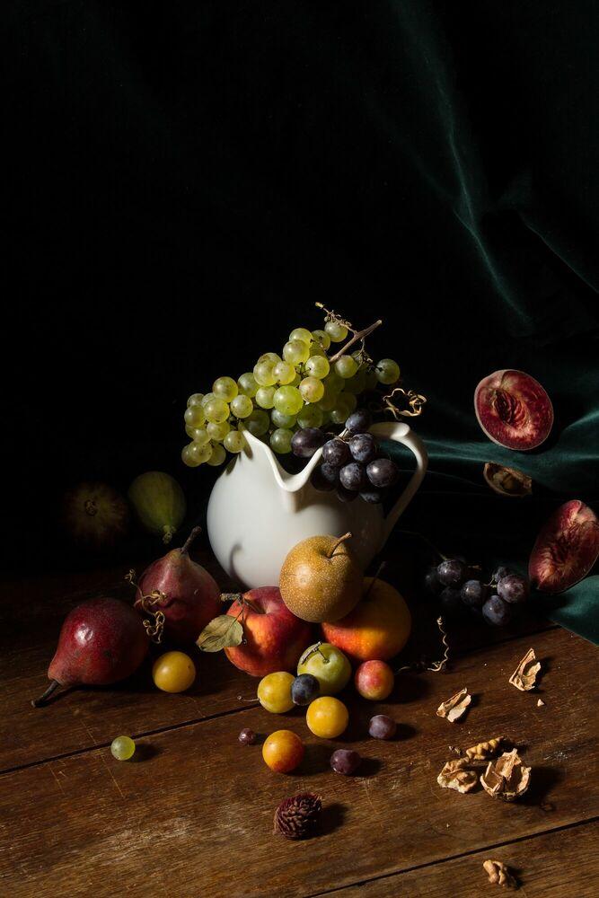 Fotografia COMPOSITION D AUTOMNE - RENARDS GOURMETS - Pittura di immagini