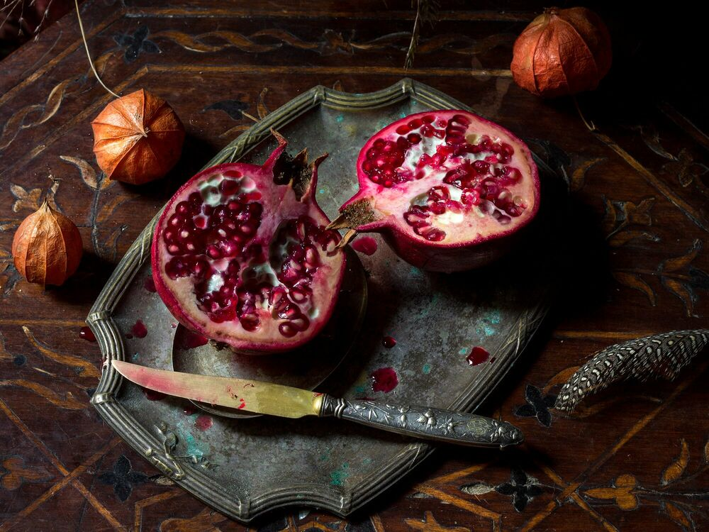 Fotografia GRENADE POURPRE - RENARDS GOURMETS - Pittura di immagini