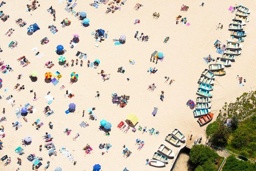 Fotografia BEACH BOATS - RICHARD HIRST - Pittura di immagini