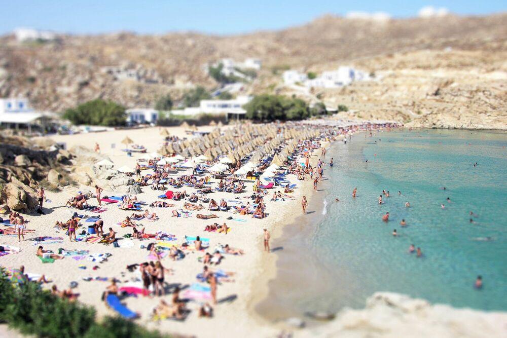 Photographie Mykonos Beach - RICHARD SILVER - Tableau photo