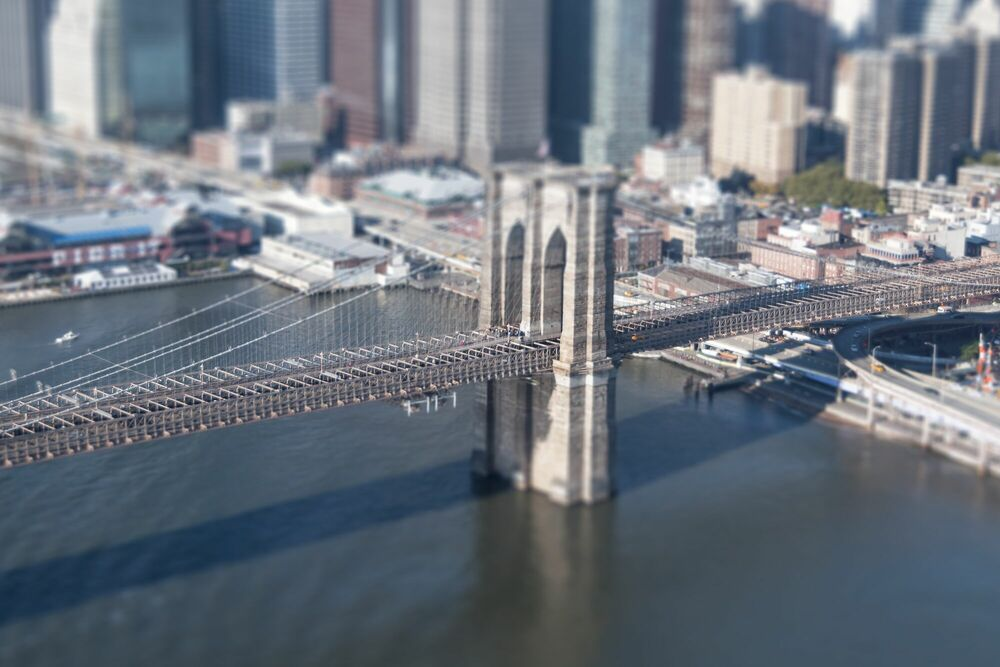 Fotografía Tilt Shift Brooklyn Bridge - RICHARD SILVER - Cuadro de pintura
